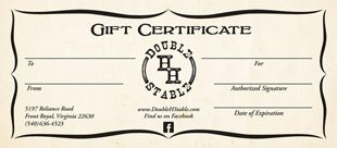 gift certificates for trail rides riding lessons